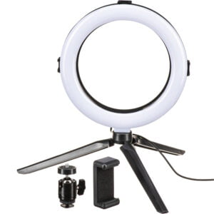 "On Air Halo Light 3-in-1 10"" LED Ring Light with Phone Holder– სელფის ლედ განათება"
