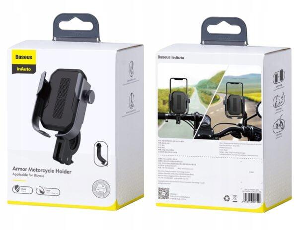 Baseus Armor Motorcycle Holder SUKJA-01- მოტოციკლეტის და ველოსიპედის სამაგრი