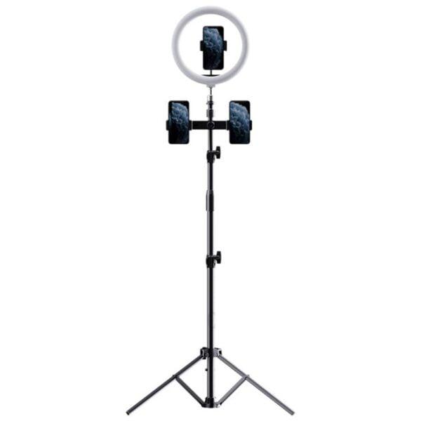 სელფი ლაითი–Rock Selfie Light With Tripod Stand & Phone Holder (multi camera) (RPH0948)