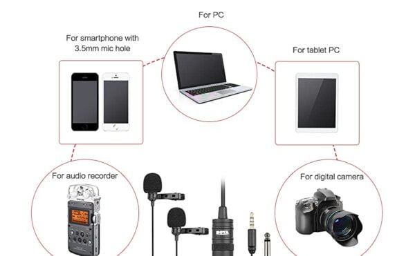 BOYA BY-M1DM Dual Lavalier Universal Microphone