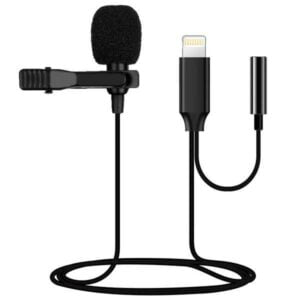 LIGHTNING GL141 Lavalier Microphone with Headphone playback interface & Easy Clip On