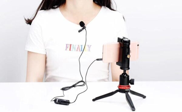BOYA by-M1 Clip-On Microphone for DSLR Camera/Smartphone/Camcorder/Audio Recorders