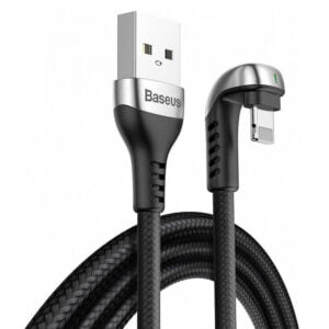 Baseus CALUX-A01 U-shaped USB Data Cable for iP Interface Equipment 2.4A 1M - Black