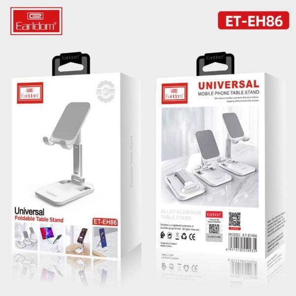 ტელეფონისა და ტაბლის სადგამი- Earldom Phone Tablet Universal Desktop Holder ET-EH86