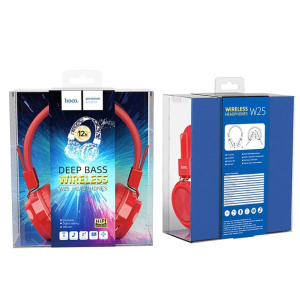 """Hoco Headphones """"W25 Promise"""" wireless and wired with mic"""