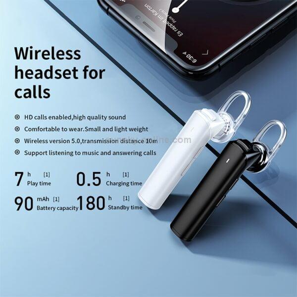 Remax Wireless Headset Noise Isolating Talking RB-T33 - ყურის ბლუთუზი