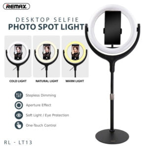 REMAX RL-LT13 Desktop Selfie Photo Spot Light 26cm Ring Light Photo Studio Universal Stand