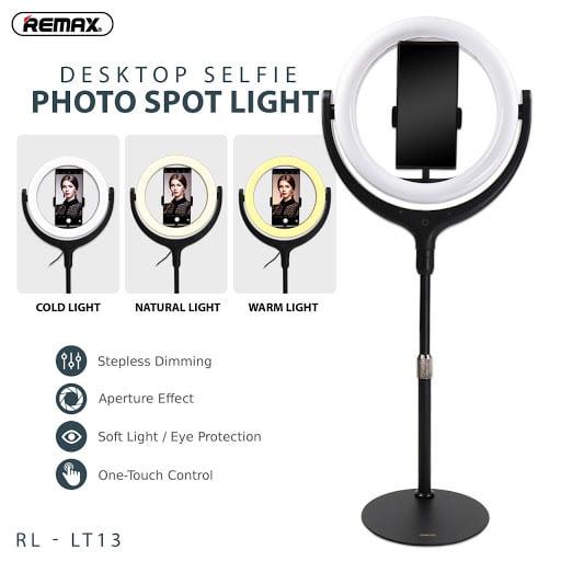 REMAX RL-LT13 Desktop Selfie Photo Spot Light 26cm Ring Light Photo Studio Universal Stand